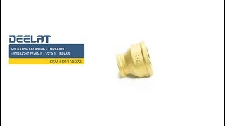 Reducing Coupling – Threaded – Straight Female – 1/2