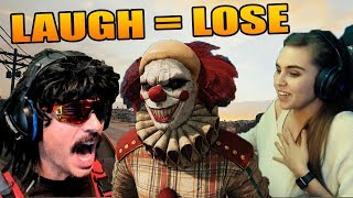Danucd can't stop laughing! DrDisRespect scared by CLOWN! PUBG YOU LAUGH YOU LOSE
