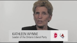 Kathleen Wynne, Leader of the Ontario Liberal Party answered three questions for CNA and NPAO