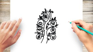 How To Draw Family Tree Step By Step