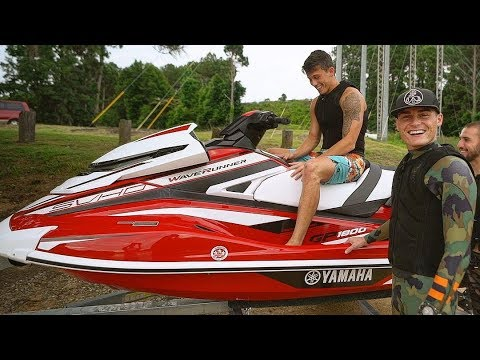 I BOUGHT MY BEST FRIEND HIS DREAM JET SKI! (2018 Yamaha GP1800) **Emotional**