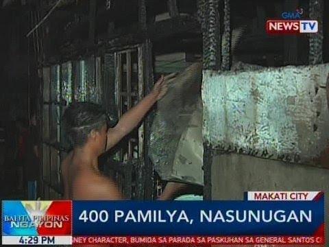 BP: 400 pamilya, nasunugan sa Makati City
