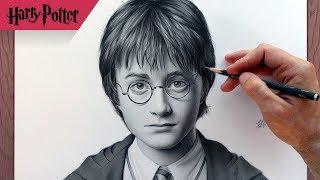 Портрет Гарри Поттера карандашом. Drawing Harry Potter.