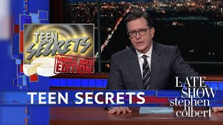 The Late Shows' Teen Secrets: Cheese Drugs