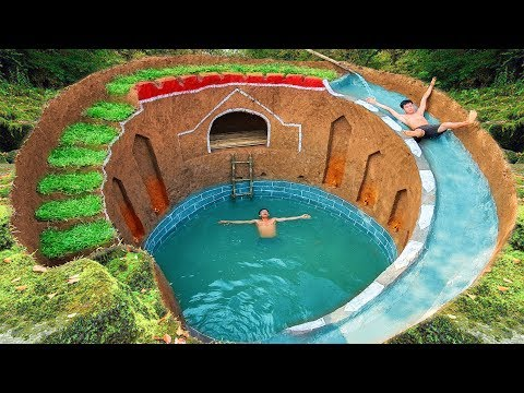 Download How To Build Swimming Pool Water Slide Around Secret Underground House Mp4 HD Video and MP3