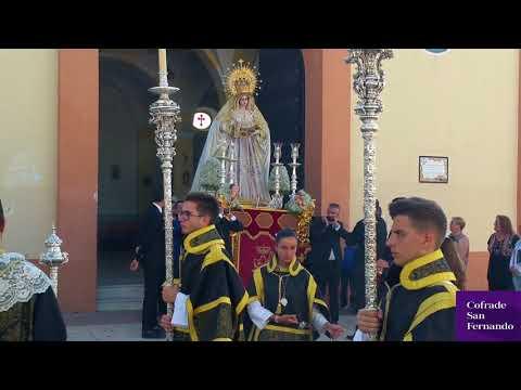 La Virgen de la Paz recorre el barrio de la Casería en rosario