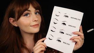 [ASMR] No Music - Beautician Does Your Eyelashes - Close up