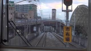 長崎本線 浦上駅の単線区間