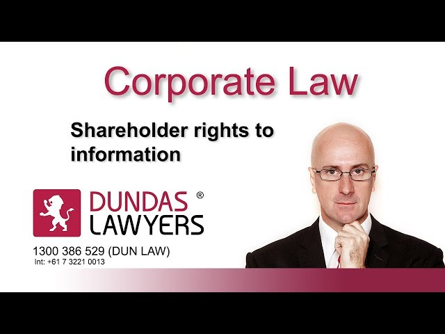Shareholders right to information