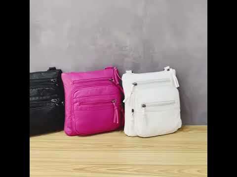 Women's Bag Purses Flap Coin Purse Multi-Layer Casual Shoulder Bag PU Leather Bag