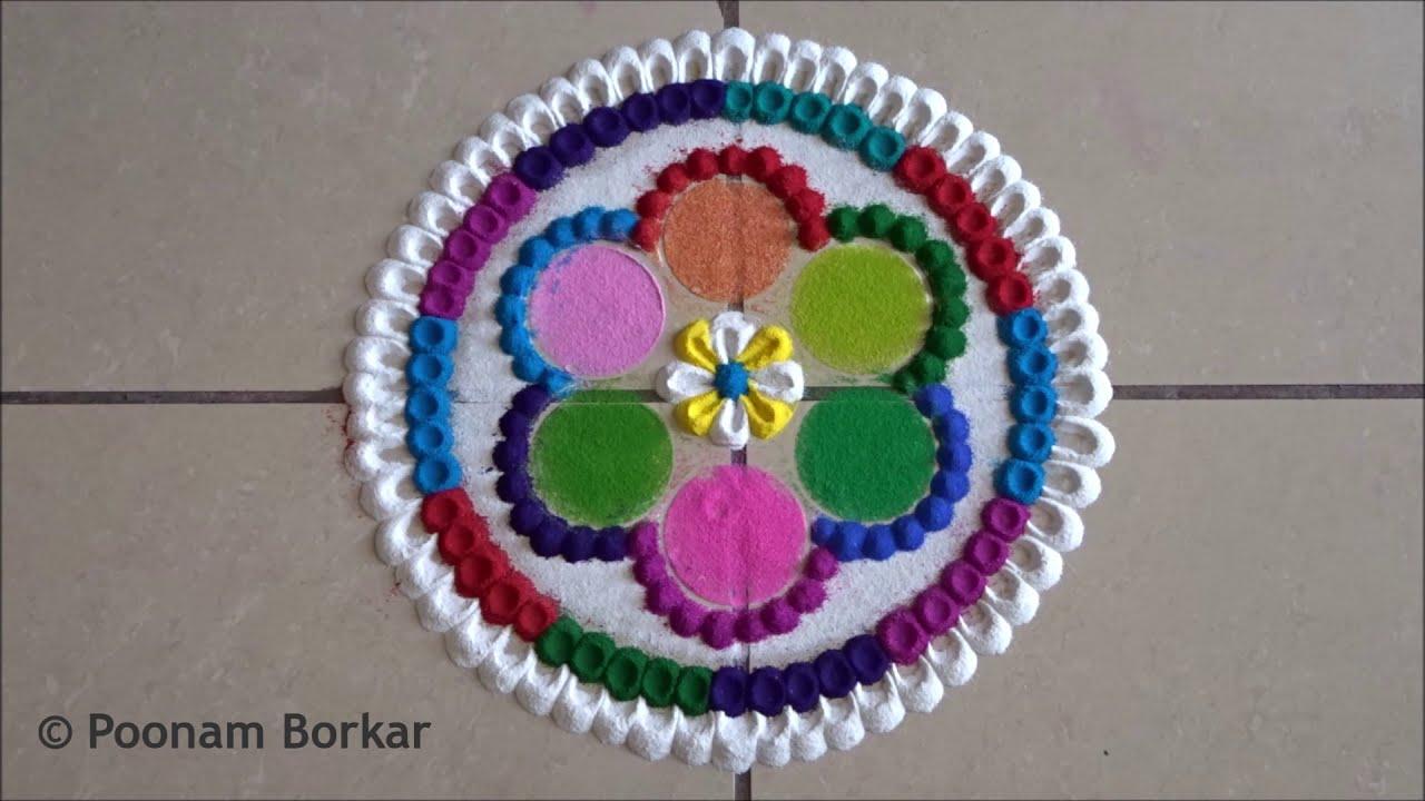 beautiful and colorful rangoli design by poonam borkar