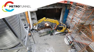 The eastern entrance to the Metro Tunnel is now complete