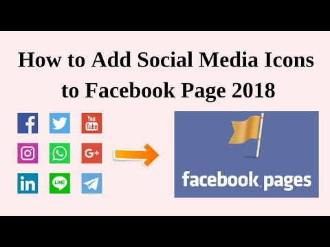 How to add social media icons to facebook page 2018