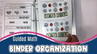 Guided Math Binder Organization