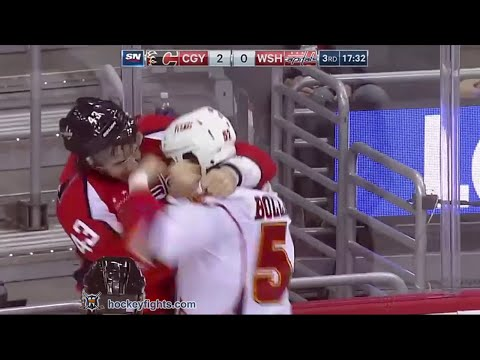 Brandon Bollig vs Tom Wilson
