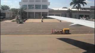 Landing at Victoria Falls International Airport, Zimbabwe, Africa