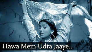 Barsaat - Hawa Mein Udta Jaaye - Lata Mangeshkar - YouTube