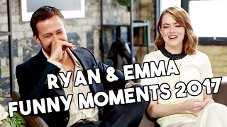 Ryan Gosling And Emma Stone Funny Moments 2017