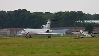Ту-154М ВМФ. Запуск двигателей
