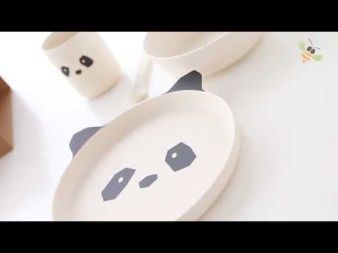 liewood bamboo dinner set panda