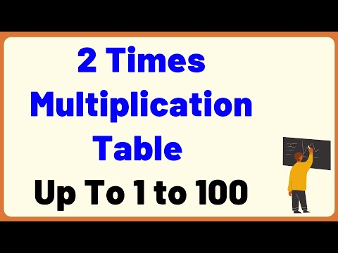 2 Times Multiplication Table up to 1 to 100 | Multiplication Time Table with Audio