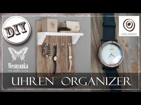 DIY : UHREN ORGANIZER aus HOLZ | Kooperation mit HOLZKERN