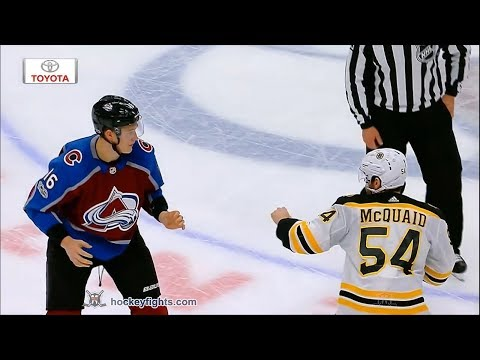 Nikita Zadorov vs. Adam McQuaid