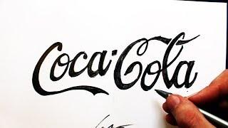 Como Desenhar a logo da Coca-Cola - (How to Draw Coca-Cola logo) - SLAY DESENHOS #220