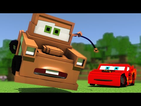 """Disney Pixar's Cars In Minecraft"" - Animation"