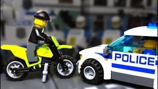 УГОН  Байка 🔵 Лего Полицейская История  💣