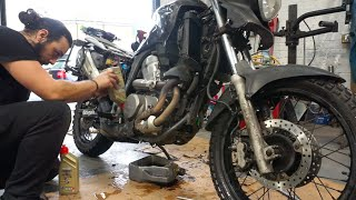 Ep 65 - Servicing the Honda Transalp 700 - Motorcycle Trip Around Europe