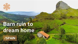 Housebarn Ruin In Northern Spain Becomes Family Reunion Home