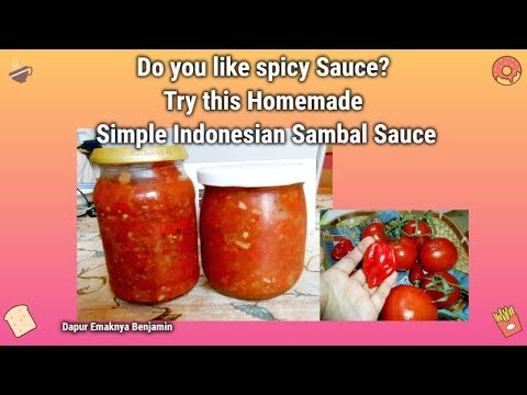 How To Make Simple Indonesian Sambal Sauce