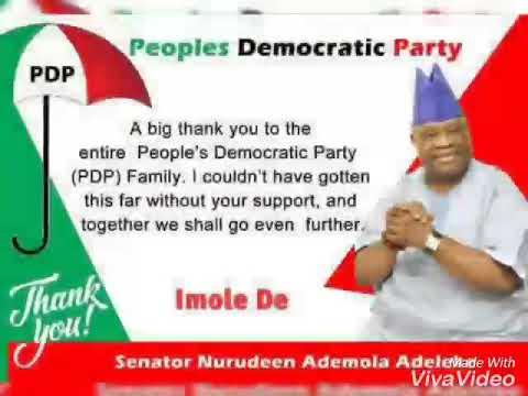 Adegbodu Twins for Senator Nurudeen Ademola Adeleke (Osun State Governor 2018) #ImoleDee #PDP