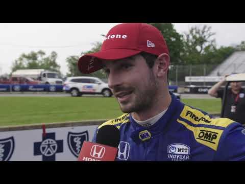 2019 IndyCar Detroit GP Race 1 - Honda Highlights