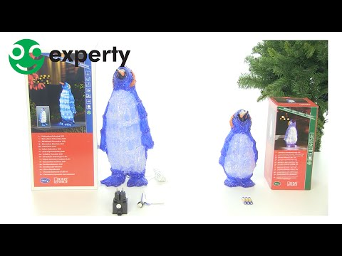 Konstsmide LED-pingvin akryl