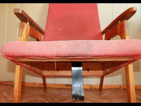 Старое кресло и винилискожа