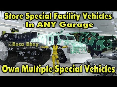 GTA 5 Store Special Facility Vehicles In ANY Garage / Own Multiple Special Vehicles