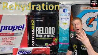 Best Rehydration Drink   Gatorade, Propel, Liquid IV, & Reload Recovery Matrix   Hydration Review