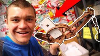 GIANT Steel Trap VS iPhone! *Mailtime*
