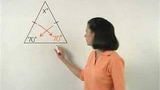 The Isosceles Triangle Theorem - YourTeacher.com - Math Help