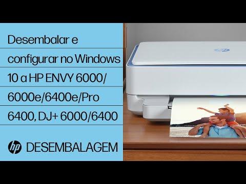 Desembalar e configurar no Windows 10 a HP ENVY 6000/6000e/6400e/Pro 6400, DJ+ 6000/6400   HP