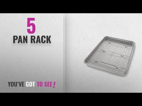 Top 10 Pan Rack [2018]: USA Pan Bakeware Jelly Roll Baking Pan and Nonstick Cooling Rack Set, Metal