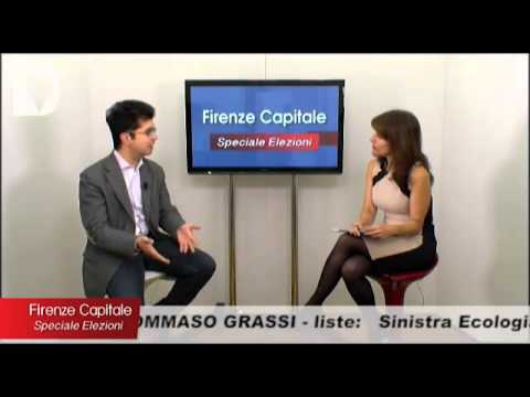 Il candidato a sindaco Tommaso Grassi ospite di Firenze capitale - speciale elezioni, condotto da Elisabetta Matini.