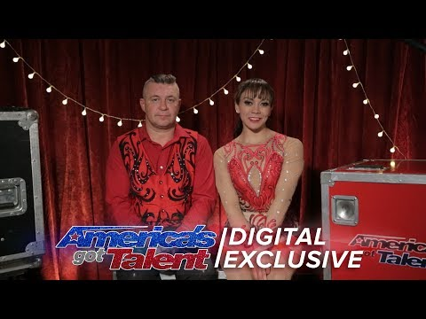 Daredevil Duo Elena and Sasha Relive Their Time on Stage - America's Got Talent 2017