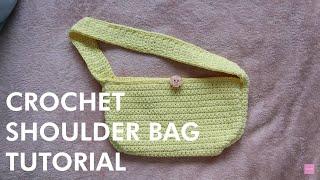 EASY Crochet Shoulder Bag Tutorial | 90s Inspired Bag | DIY