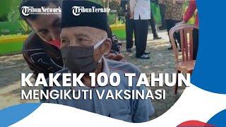 Kakek Berusia 100 Tahun Ikui Vaksinasi Covid-19 di Malang, Mengaku Tak Bergejala seusai Divaksin