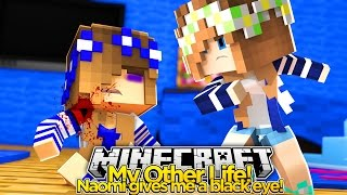 My Other Life #11-NAOMI GIVES LITTLE CARLY A BLACK EYE (Minecraft Roleplay)