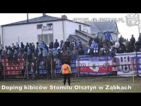 Doping kibiców Stomilu Olsztyn w Ząbkach