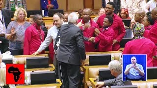 WATCH IT ALL - Fighting in Parliament during Subject for discussion (Mr J S Malema): Building state capacity through insourcing of government and all state-owned companies' workers  MY AFRICA welcomes all comments that are constructive, contribute to discussions in a meaningful manner and take stories forward. However, we will NOT condone the following: - Racism (including offensive comments based on ethnicity and nationality) - Sexism - Homophobia - Religious intolerance - Cyber bullying - Hate speech - Derogatory language - Comments inciting violence. We strive to make the YouTube (MY AFRICA) community a safe and welcoming space for all.